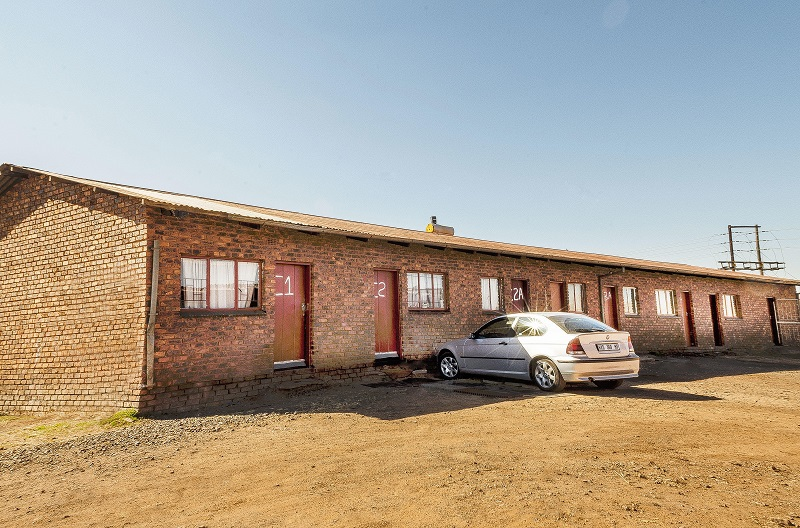 Unfurnished accommodation @ R 890.00 - R 1080.00 per room per month excl VAT