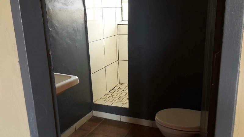 A view of a bathroom from one of the unfurnished bathrooms